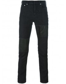 Neil Barrett - Panelled Jeans - Men - Cotton/leather/polyester/spandex/elastane - 36 afbeelding