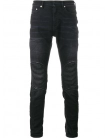 Neil Barrett - Ribbed Knee Biker Jeans - Men - Cotton/polyester - 34 afbeelding