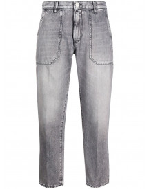 Nine In The Morning Cropped Jeans - Grijs afbeelding