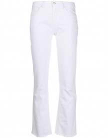 Nine In The Morning Kick Flare Jeans - Wit afbeelding