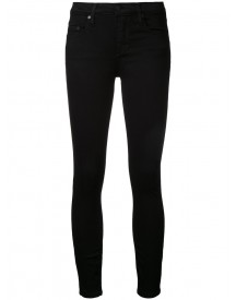 Nobody Denim - Geo Skinny Ankle Luxe Black - Women - Cotton/elastodiene/polyamide/modal - 31 afbeelding