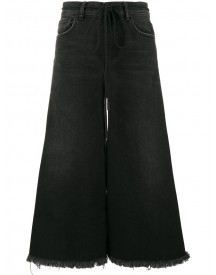 Off-white - Black Embroidered Lily Culottes - Women - Cotton/acrylic/polyester/spandex/elastane - 25 afbeelding