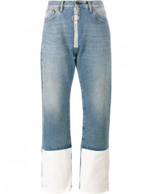 Off-white - Contrast Cuff Jeans - Women - Cotton/polyester - 29 afbeelding