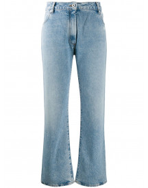 Off-white Cropped Jeans - Blauw afbeelding