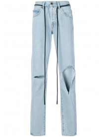 Off-white - Diag Raw Cut Jeans - Men - Cotton/polyester - 34 afbeelding