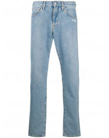 Off-white Straight Jeans - Blauw afbeelding
