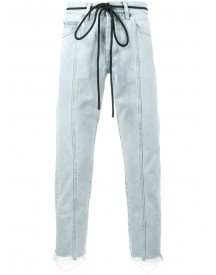Off-white - Diagonal Panelled Jeans - Men - Cotton/polyester - 34 afbeelding