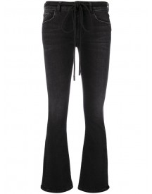 Off-white - Embroidered Flared Jeans - Women - Cotton/acrylic/polyester/wool - 26 afbeelding