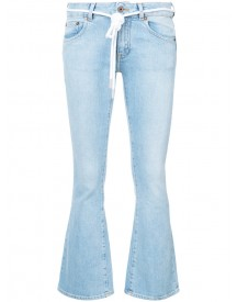 Off-white - Flared Jeans - Women - Cotton/spandex/elastane - 26 afbeelding