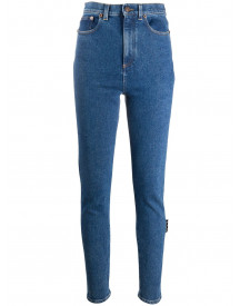 Off-white High Waist Skinny Jeans - Blauw afbeelding