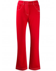 Off-white Jeans Met Contrasterend Stiksel - Rood afbeelding
