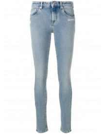 Off-white Mid Rise Skinny Jeans - Blauw afbeelding