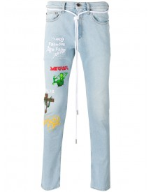Off-white - Multiple Prints Skinny Jeans - Men - Cotton/polyester/spandex/elastane - 33 afbeelding