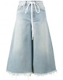 Off-white - Rope Belt Blue High Waisted Culotte Jeans - Women - Cotton/polyester - 27 afbeelding