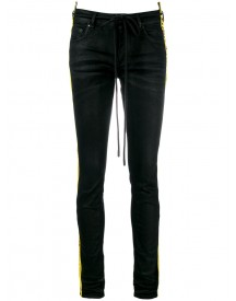 Off-white - Side Stripe Slim-fit Jeans - Women - Cotton/polyamide/polyester/spandex/elastane - 30 afbeelding