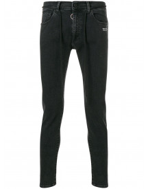 Off-white Skinny Fit Jeans - Zwart afbeelding