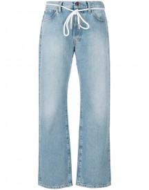 Off-white - Straight Leg Trousers - Women - Cotton/polyester - 26 afbeelding