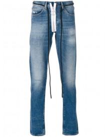 Off-white - String Tie Faded Jeans - Men - Cotton - 32 afbeelding