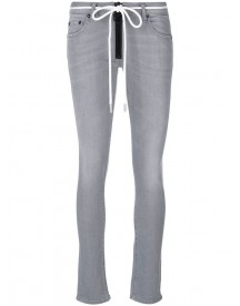 Off-white - Zip-up Skinny Jeans - Women - Cotton/polyester/spandex/elastane - 28 afbeelding