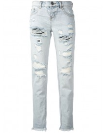 One Teaspoon - Ripped Cropped Jeans - Women - Cotton - 29 afbeelding