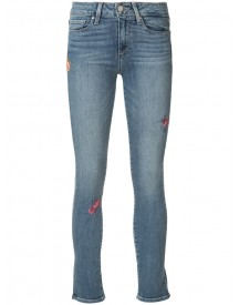 Paige - Embroidered 'hoxton' Jeans - Women - Cotton/polyester/spandex/elastane - 24 afbeelding