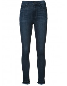Paige - 'hoxton' Frayed Ankle Jeans - Women - Cotton/polyester/spandex/elastane/rayon - 26 afbeelding