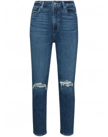 Paige Cropped Jeans - Blauw afbeelding