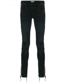 Palm Angels - Distressed Skinny Jeans - Men - Cotton/polyester/polyurethane - 28 afbeelding