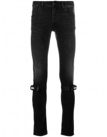 Palm Angels - Knee Straps Skinny Jeans - Men - Cotton/polyamide/polyester/polyurethane - 33 afbeelding
