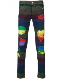 Palm Angels - Rainbow Stripe Jeans - Men - Cotton - 34 afbeelding