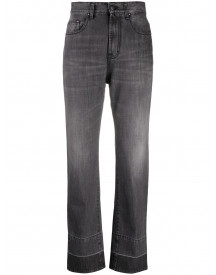 Palm Angels Straight Leg 5 Pockets Dark Grey White - Grijs afbeelding