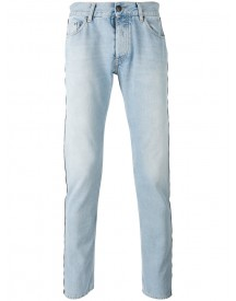 Palm Angels - Trimmed Skinny Jeans - Men - Cotton/polyester - 34 afbeelding
