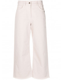 Patrizia Pepe Flared Jeans - Nude afbeelding