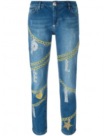 Philipp Plein - Ashley Boyfriend Jeans - Women - Cotton/spandex/elastane - 26 afbeelding