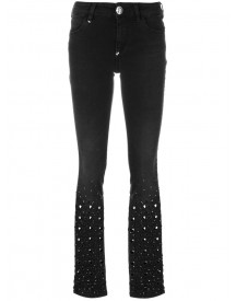 Philipp Plein - Cut Out Heart Jeans - Women - Cotton/polyester/spandex/elastane - 25 afbeelding