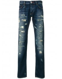 Philipp Plein - Distressed Straight Leg Jeans - Men - Cotton - 33 afbeelding
