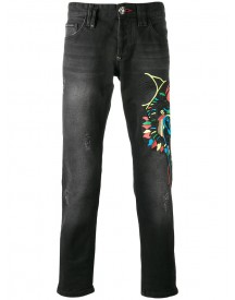Philipp Plein - Embroidered Jeans - Men - Cotton - 31 afbeelding