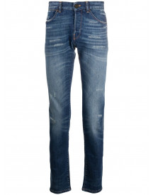 Pt01 Distressed Slim-fit Jeans - Blauw afbeelding