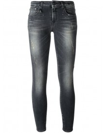 R13 - Distressed 'kate' Skinny Jeans - Women - Cotton/polyester/spandex/elastane - 25 afbeelding