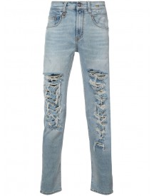 R13 - Distressed Skinny Jeans - Men - Cotton/spandex/elastane - 30 afbeelding