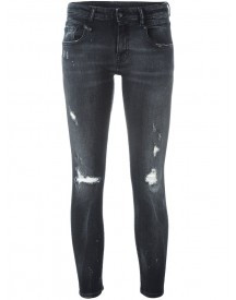 R13 - Distressed Skinny Jeans - Women - Cotton/polyester/spandex/elastane - 26 afbeelding