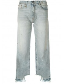 R13 - Raw Hem Cropped Jeans - Women - Cotton - 24 afbeelding