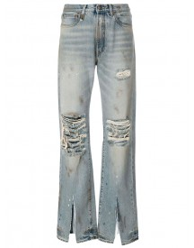 R13 - Ripped Boyfriend Jeans - Women - Cotton - 24 afbeelding