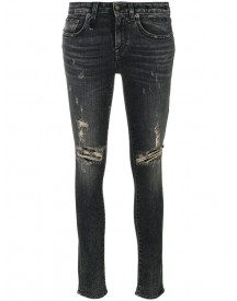 R13 - Skinny Distressed Jeans - Women - Cotton/polyester/spandex/elastane - 25 afbeelding
