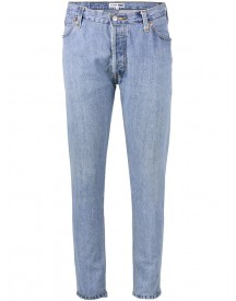Re/done - Blue High Waisted Skinny Jeans - Women - Cotton - 26 afbeelding