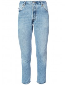 Re/done - Cropped Denim Jeans - Women - Cotton - 25 afbeelding
