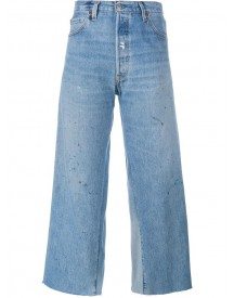 Re/done - Cropped Flared Jeans - Women - Cotton - 24 afbeelding
