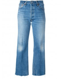 Re/done - Cropped Jeans - Women - Cotton - 28 afbeelding