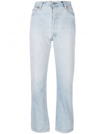 Re/done - Cropped Straight Jeans - Women - Cotton - 25 afbeelding
