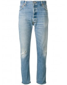 Re/done - Distressed Fitted Jeans - Women - Cotton - 28 afbeelding
